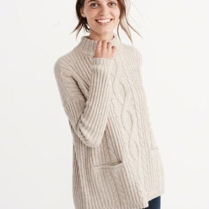 Abercrombie & Fitch Mock Cable Knit cozy sweater